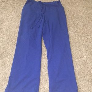 Grey's Anatomy royal blue scrub pants sz sm petite
